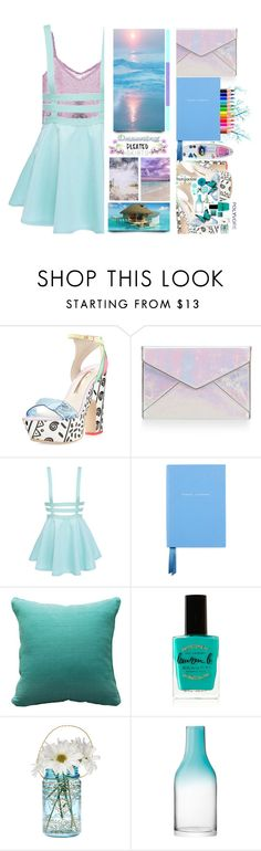 """""""#316 Pleats, Please"""" by wonderful-paradisaical ❤ liked on Polyvore featuring Sophia Webster, Rebecca Minkoff, Smythson, Fogarty, Lauren B. Beauty, Cultural Intrigue, LSA International, Karlsson, pleatedskirts and contestentry"""