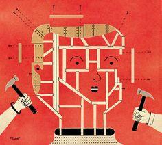DAVID PLUNKERT ILLUSTRATION: BUILD-A-BABY