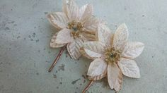 Cute Poinsettia Bobby Pins by Shelithas on Etsy, $4.25