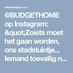 """@BUDGETHOME op Instagram: """"Zoiets moet het gaan worden, ons stadstuintje... Iemand toevallig nog goede tips voor een kleine zonnige tuin die makkelijk in onderhoud…"""""""