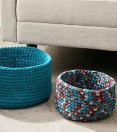 How To Make Simple Crochet Baskets - crochet your own room decor