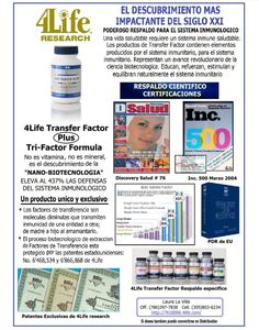 Transfer Factor for  (sistem inmmune)  Laura,  Independent Distributor ID#7618006.4life.com