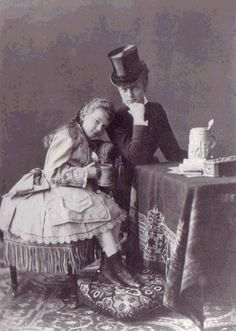 Marie Larisch with her young cousin Archduchess Marie Valerie (Sisi's daughter).