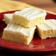 One of my new favorite cookies - Cornbread Sugar Cookie Squares with Honey Butter Frosting. Think cornbread meets sugar cookies.