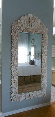 Oyster Shell Mirror by MyGreenGazebo on Etsy, $1800.00