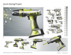 Drilling machine from scratchy sketches to nice render Design Process, Tool Design, Layout Design, Conceptual Drawing, Plastic Moulding, Industrial Design Sketch, Porsche Design, Cool Sketches, Picture Design