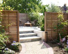 Create Secluded Areas with Wooden Garden Screening Small City Garden, Garden Spaces, Small Patio Garden Ideas Uk, Private Patio Ideas, New Build Garden Ideas, Garden Privacy Screen, Garden Screening, Shed Screening Ideas, Back Garden Design