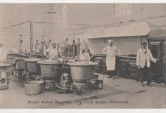 POSTCARD   MILITARY PLYMOUTH Royal Naval Hospital  The Cook House