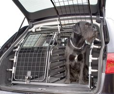 Dog barrier/guard for automobiles by Kleinmetall Pet Transport Service, Service Dogs, Dog Cages For Cars, Car Pet Barrier, Dog Trailer, Cute Dogs And Puppies, Doggies, Peugeot 3008, Dog Car