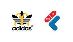Sportswear x Fast Food logo design mashup: McDonalds x adidas - Domino's x Fila #logo #mcdonalds #nike #adidas #fila #burgerking #dunkindonuts #kfc #champion #underarmour #subway #puma #jordan #pizzahut #dominos #fila