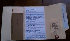 LIbrary card wedding invitations.