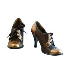 Retro High Heeled Oxfords by Kenneth Cole Tribeca //