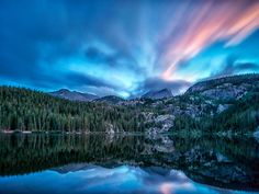 sunset at Bear Lake