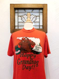 Groundhog Day T Shirt Vintage Punxsutawney by RedsThreadsVintage