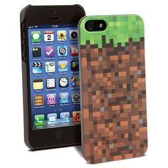 Coque Minecraft pour IPhone 5 Grassy Block Pixels - 30.99€ - #Logostore