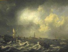 Het aan lager wal raken van Zr.Ms. gaffelkanonneerboot No. 2 van Jan Carel Josephus van Speijk februari 1831