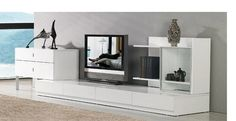 Maryland Entertainment Center - White Lacquer