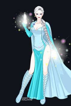 Queen Elsa ~ by shanshan ~ created using the X-Girl doll maker | DollDivine.com