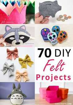 Sewing Gifts Do you enjoy doing crafts with felt? Here are 70 DIY felt craft projects that you can try for yourself. - Do you enjoy doing crafts with felt? Here are 70 DIY felt craft projects that you can try for yourself. Felt Crafts Diy, Easy Crafts To Make, Diy Crafts For Adults, Felt Diy, Craft Gifts, Fun Crafts, Sewing Crafts, Sewing Tips, Baby Crafts