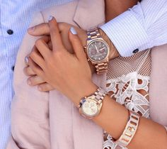 Michael Kors, his and hers -rose gold watches