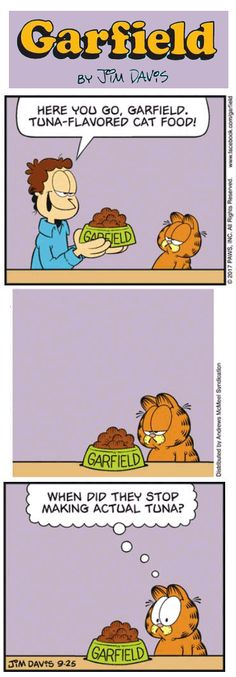 Jim Davis, Classic Cartoons, Fat Cats, Just For Fun, Cat Food, Make You Smile, Comic Strips, Funny Stuff, Family Guy
