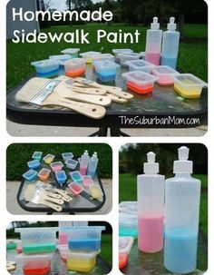 Homemade Sidewalk Chalk Paint | Summer may be a time to relax for some, but for kids, summer needs to be fun, memorable, and boredom is a no-no! Use this list of simple DIY crafts and give your child a creative summer to remember.