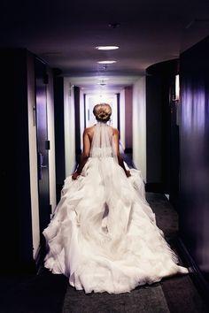 Love the bottom of the dress. Source: Real Weddings {Atlanta}: Keiwana & Kyle! - Blackbride.com