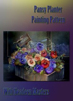 How to paint Pansy Flowers: Acrylic painting pattern
