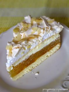Polish Desserts, Polish Recipes, Good Food, Yummy Food, Cupcakes, Food Cakes, Sweet Desserts, No Bake Cake, Vanilla Cake