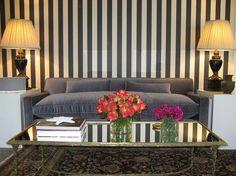 stripe wall decor | white striped patterns wallpapers interior decor Decorative Striped ...