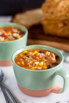 Southwest Chorizo Soup has a bunch of vegetables and spicy chorizo. What more could you want in a soup?