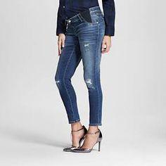 Maternity Inset Under the Belly Medium Wash Ankle Skinny Jeans - Liz Lange® for Target : Target