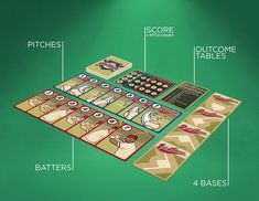 Pocket Ballpark  Pocket Ballpark™ is a 2-player baseball card game with a 1-player variant. It is aimed at the ages of 7 and up. Playing time is around 20 minutes for a 3-inning game. Each player plays a pitch and a batter card - the total of the numbers on the cards determines the outcome of each play. Players can strategize by keeping track of what cards their opponent has played, as well as taking advantage of opportunities to steal bases.