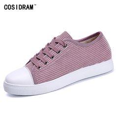 Corduroy Women Casual Shoes New2017 Spring Autumn Vulcanize Women Shoes Classical Flat Heels Rubber Sole Female Footwear SNE-548