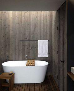 Nice wood work salle de bain bois