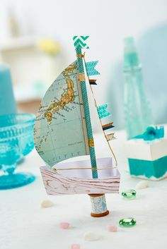 This paper boat is the ideal gift for a sailing fanatic (PaperCrafter issue 83)