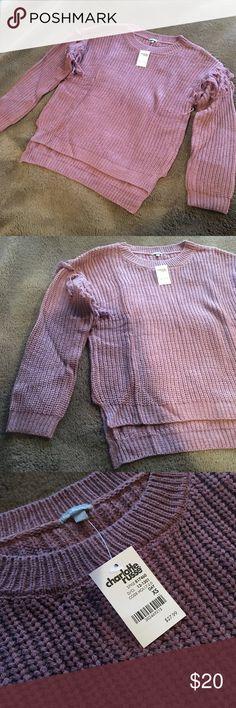 Charlotte Russe XS Sweater NEW Brand new sweater - XS really cute! Charlotte Russe Sweaters Crew & Scoop Necks