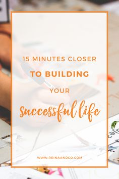 You're constantly spinning your wheels and feel like you're frustrated that you can't ever seem to catch up with what your peers are doing because you don't actually know what you want to achieve. The quickest way of getting to a more fulfilled life is by stopping the external comparison and tuning into your own hopes.  What does success actually look like?    15 MINUTES CLOSER TO BUILDING YOUR SUCCESSFUL LIFE – VISUALIZE YOURSELF TO SUCCESS    Reina + Co | Life + Biz Success