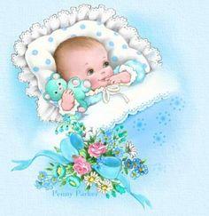 Sweet baby illustration.