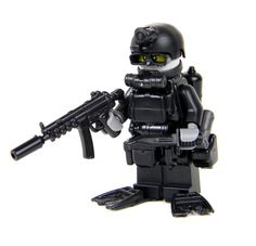 Navy SEAL Special Forces Diver - Battle Brick Custom Minifigures