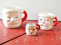 Vintage Santa MugsInstant Collection by 3BearsVintage on Etsy, $12.00