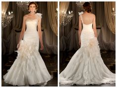 One-shoulder Ruched Sweetheart Mermaid Wedding Dress