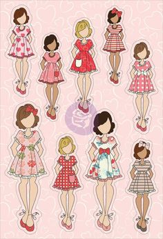 Julie Nutting Planner Stickers-February by Prima Marketing for Scrapbooks, Cards, & Crafting Crafts For Teens To Make, Easy Arts And Crafts, Arts And Crafts House, Diy And Crafts, Prima Paper Dolls, Prima Doll Stamps, Scrapbook Stickers, Planner Stickers, Sand Crafts