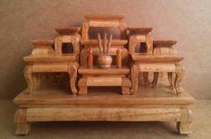 Set 9 Mini Altar Table Thai Buddha Amulet Phra Doll House Miniature | eBay