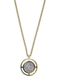Dyrberg Kern Women's Gold Charida Crystal Rock Necklace