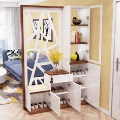 45 Brilliant Partition Wall Design Ideas To Blow You Away - Engineering Discoveries Living Room Divider, Living Room Interior, Living Room Decor, Home Room Design, Home Interior Design, Living Room Designs, Living Room Partition Design, Room Partition Designs, Partition Ideas