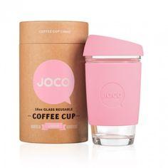 Joco Strawberry Pink 16oz Joco Glass Reusable Coffee Cup - Trouva