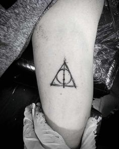 deathly hallows tattoo harry potter elder wand