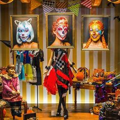 WEBSTA @ amazing_jiro - Window display produced by Amazing JIRO.I did facepainting for these 3 characters on a same model. They are shown at the window of Shinjuku Takashimaya.Please check it out if you are around!Face paint : #amazing_jiroHair