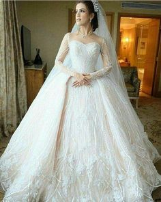 Here is a haute couture long sleeve wedding dress that has ornate detail. We can make custom #weddingdresses like this for you. We can also make #replicas of couture dresses too. So if what you want is out of your price range email us the picture for pricing. DariusCordell.com #weddinggowns
